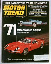 MOTOR TREND MAGAZINE 1969 DECEMBER TORINO CHEVELLE AMX MID ENGINE FORD CHEVY