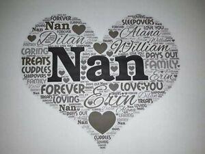 granny birthday christmas gift word art