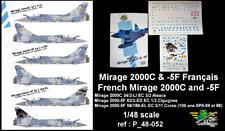 [FFSMC Productions] Decals 1/48 Mirage 2000C et -5F Français (ref P_48-052)