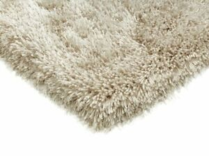 Cascade Sand Natural Thick Soft Warm Polyester Living Room Shaggy Rugs