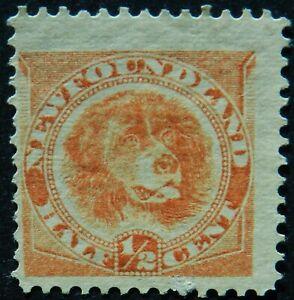 Newfoundland Canada 1896 ½c SG 62 Unused no gum cat £65