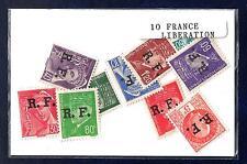 France Libération 10 timbres différents