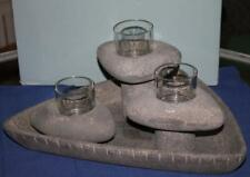 PartyLite    LIVING STONE CANDLE HOLDER ENSEMBLE    NIB