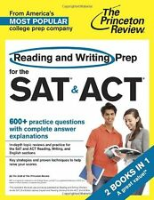 Reading and Writing Prep for the SAT & ACT: 2 Books in 1 (College Test Preparati