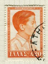 Greece; 1957 early Royal Family issue fine used 20l. 