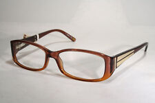 Women's Gold Decor Brown Plastic MAX MARA Seethru Clear Unworn Glasses Frames