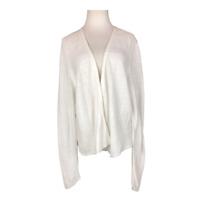 J. Jill Size XL Linen Blend Open-Front Cardigan Sweater Knit Long Sleeve
