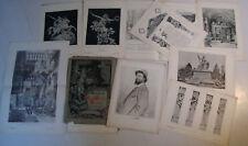 Lorenz Gedon architect Kunstsammlung antique print 1884 7 stiche portrait