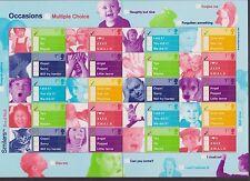 GB QEII SMILER STAMP SHEET UMM MNH 2003 LS12 OCCASIONS TICK BOXES