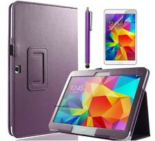 PU Leather Folio Stand Case Cover for Samsung Galaxy Tab a 10.1 (2016) T580 T585 Purple