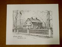 """VTG 70's LI Artist ALICE KETTELHACK PEN & INK CUSTOM HOUSE SAG HARBOR 9"""" x11"""""""
