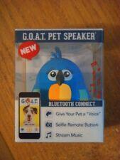 G.O.A.T. PET PRODUCTS PET SPEAKER BLUE BIRD PET VOICE MUSIC SELFIE BLUETOOTH
