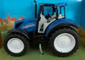 New Holland T5.120 Blue Farm Tractor Scale Model 1:32 - Big Harvest Farm Toy NEW