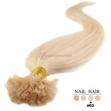 50 100 150 200 EXTENSIONS CHEVEUX POSE A CHAUD NATURELS REMY 49/60CM 0,5G/1G AAA
