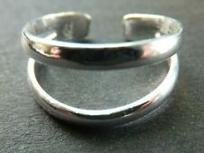 *Bn* good quality, very sturdy ring, .925 Solid Silver Toe Ring, 2 strand design
