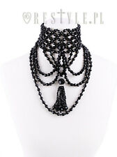 Restyle Tassel Choker Gothic Punk Emo Evening Beads Collar Jewelry Necklace