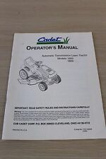Cadet Automatic Transmission Lawn Tractor Models 1600 1800 Operator's Manual