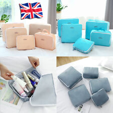 5pcs Set Luggage Organiser Suitcase Storage Bags Pouch Packing Travel Cubes UK
