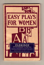 Easy Plays for Women by Bell Elliott Palmer - 1933 Fitzgerald - Play scripts