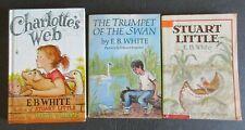 Lot 3 EB White Books Charlottes Web Stuart Little The Trumpet Of The Swan