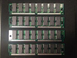 4x 16MB 72-Pin 60ns FPM Non-Parity 5V 4X32 SIMM RAM Memory 64MB Mac PC Unix