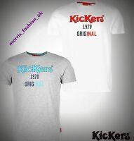 Mens Kickers Casual Lightweight Printed Cotton T Shirt Top Size M-XXL BIG SALE