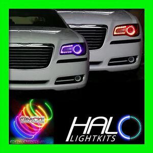 2011-2014 CHRYSLER 300 300C COLORSHIFT LED LIGHT HEADLIGHT HALO KIT by ORACLE