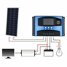 40A /60A /100A LCD MPPT Solar Panel Battery Regulator Charge Controller Dual USB