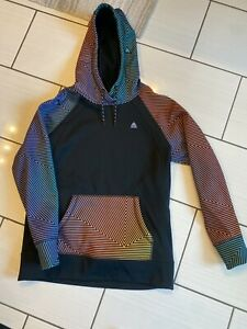 Womens BURTON Crown Bonded Pullover Hoodie Gradient Spun OUT Small