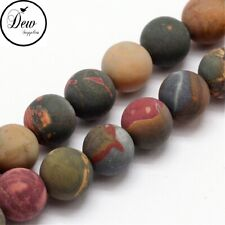 About 49pcs, Natural Frosted Picasso Jasper stone Beads 8~8.5mm, beads jewelley