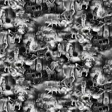 Wicked Fog - Wolves - Halloween Fabric Material
