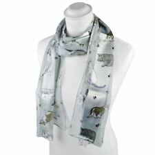 Sciarpe, foulard e scialli da donna a strisce grigio