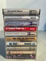 Lot of 10 Vintage Gospel Cassette Tapes *1838*