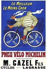 1912 Poster Pneu Vélo Michelin  by O'Galop 13 x 19 giclee