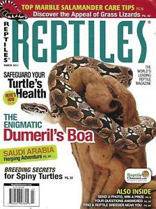 Reptiles Magazine Boa Snake Spiny Turtles Breed Secrets Salamander Care Tips