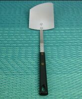 Vintage USA Made Curved Blade Spatula Flipper Turner Stainless Black Handle