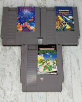 NES 3 games lot Nintendo Bionic Commando, Tetris, Teenage Mutant Ninja Turtles