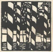 Guido Marussig Les poteaux (Venise) Holzschnitt / gravure sur bois
