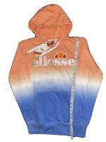NWT Ellesse Men's OH Hoodie Tie Dye Embroidered Hoody Sz S Blue Peach MSRP $105