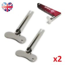 Set of 2 Toothpaste Metal Tube Squeezer* Key Dispenser Wringer Shaving Germany*