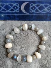 moonstone and labradorite crystal healing bead bracelet