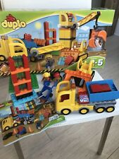 LEGO DUPLO Big Construction Site 66pc Building Blocks Dump Truck Crane Bulldozer