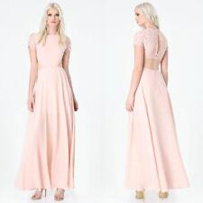 BEBE PINK LACE BACK CUT OUT DRESS GOWN NWT NEW MEDIUM M 8