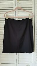 INC INTERNATIONAL CONCEPTS size 14P black lined short straight wool skirt