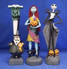 Nightmare Before Christmas Jack Skellington, Mayor & Sally 3 Piece Figurine Set