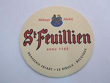 Brävery Beer Coaster ~*~ Brouwerij St FEUILLIEN Abdijbier ~*~ Le Roeulx, Belgium