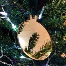 doré boule en forme de décorations ARBRE NOËL, avec satin vert ruban, Paquet 10