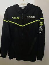 VR46 Yamaha Factory Racing Men's Zip Up Hoodie Jacket - Black XL