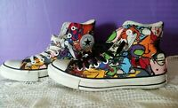 CONVERSE ALL STAR CHUCK TAYLOR HIGH TOP STICKER GRAFFITI Men 6.5 Woman 8 100038F