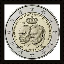 2 EURO *** Luxemburg 2014 *** 50 Jaar/ans accession trône / troonsbestijging !!!
